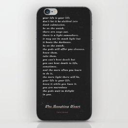 The Laughing Heart II iPhone Skin