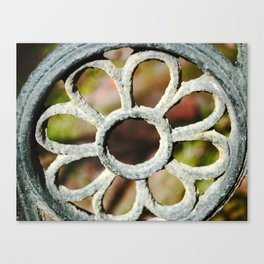 Metalic Flower Canvas Print