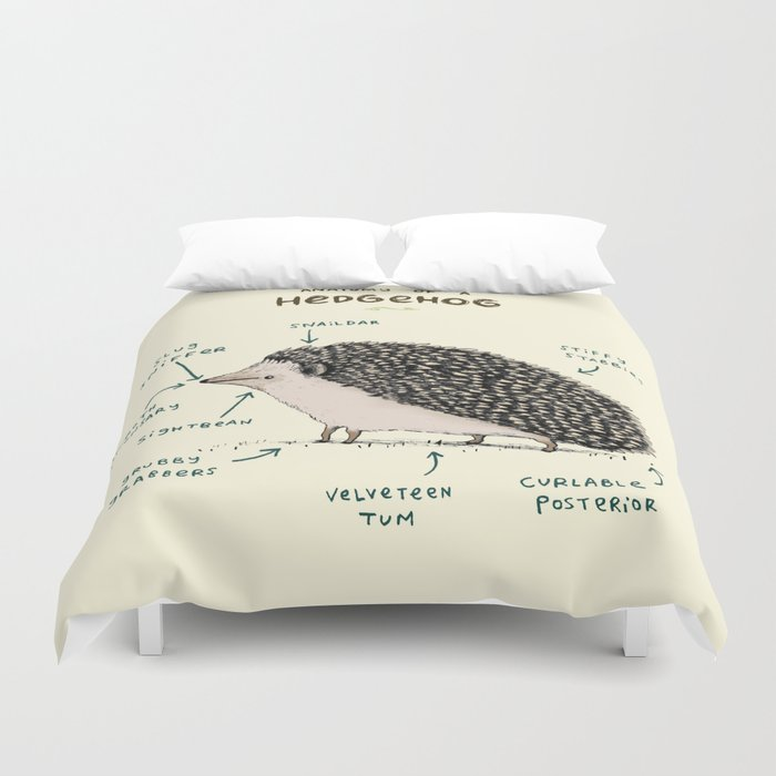Anatomy Of A Hedgehog Duvet Cover