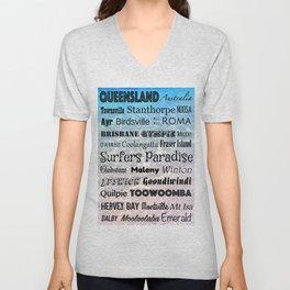 Queensland Poster Unisex V-Neck