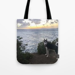 Wolfie the Siberian Husky No.2 Tote Bag