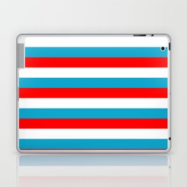 luxembourg flag stripes Laptop & iPad Skin