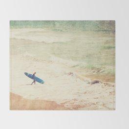 Margin Walker. surfer photograph Hermosa Beach Throw Blanket
