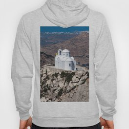 Lonely church in Greek mountains Hoody