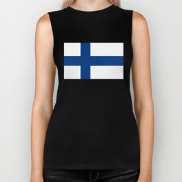 Flag of Finland - High Quality Image Biker Tank