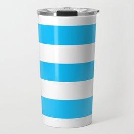 Spiro Disco Ball - solid color - white stripes pattern Travel Mug