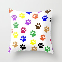 Paw print design Throw Pillow
