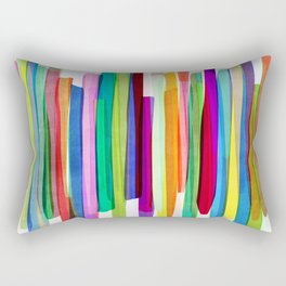 Colorful Stripes 1 Rectangular Pillow