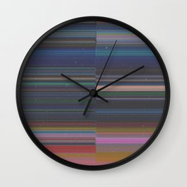 scanner stripes Wall Clock