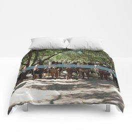 Line of People Comforters