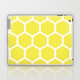 Honeycomb pattern - lemon yellow Laptop & iPad Skin