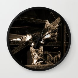 Back street Cats Wall Clock