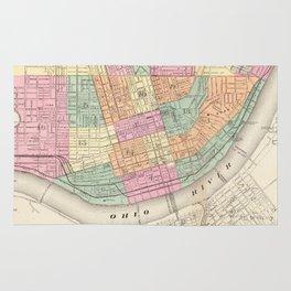 Vintage Map of Cincinnati OH (1872) Rug