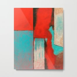 The Corners of My Mind, Abstract Painting Metal Print