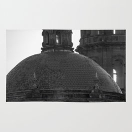 Dome black & white Rug