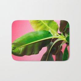 Banana Palm on Pink Bath Mat