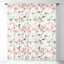Sunny Floral Pastel Pink Watercolor Flower Pattern by junkydotcom