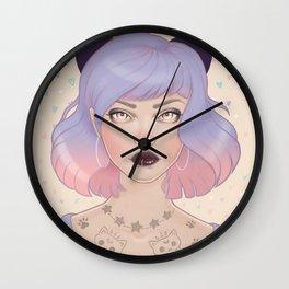Cat Paw Tattoo Wall Clock
