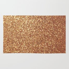 Bright Shiny Spanish Galleon Gold Glitter Rug