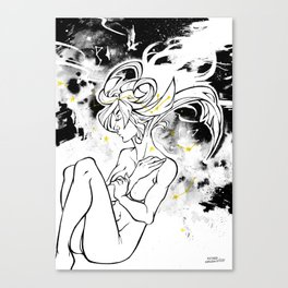 Inktober : Galaxy Canvas Print