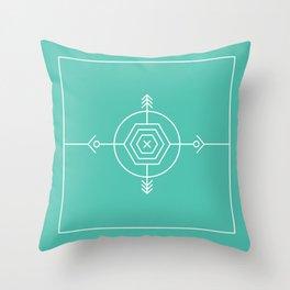 Native & modern geometric pattern 02 Throw Pillow