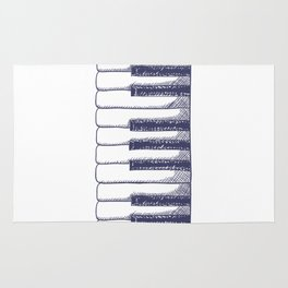 Piano Keys Keyboard Vintage Gifts Rug