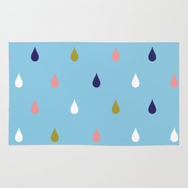 Happy rain drops Rug