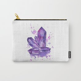 Purple Crystals Carry-All Pouch