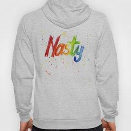 Nasty Woman Rainbow Watercolor Text Hoody