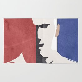 Zinedine Zidane, minimal portrait, Zizou, illustration, french football player, soccer, ballon d'or Rug