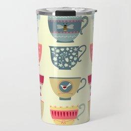 Tea Cups Travel Mug