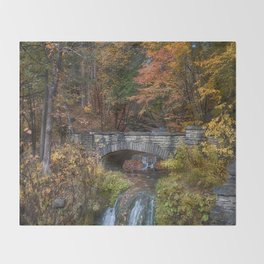 the Stone Bridge Throw Blanket
