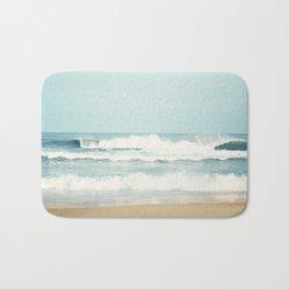 Ocean Photography, Calming Sea Photo, Blue Waves Seascape Photograph, Beach Print Bath Mat