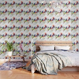Hummingbird, tropical Foliage, Hawaiian design, tropical, colors Wallpaper