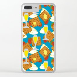 berries waffles and mimosas Clear iPhone Case