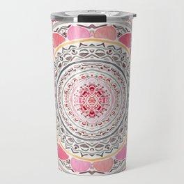 Pastel Bohemian Mandala Travel Mug