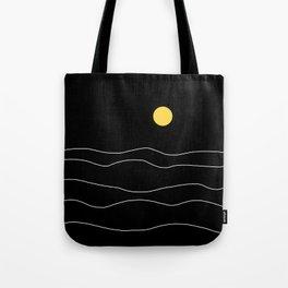 Black Ocean Tote Bag
