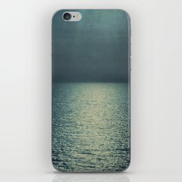 sea - emerald sunset iPhone Skin