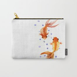 Goldfish, two fish, Koi Asian Style watercolor art Carry-All Pouch