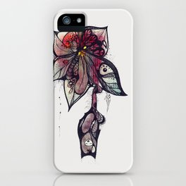 Bloody lily iPhone Case