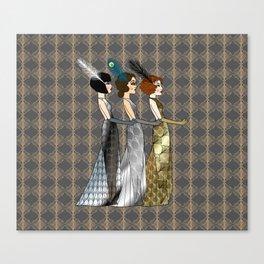 Art Deco Trio Canvas Print