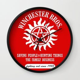 SUPERNATURAL WINCHESTER BROTHERS DEAN AND SAM Wall Clock