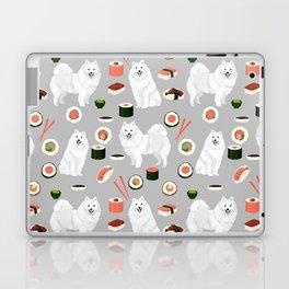 Japanese Spitz sushi kawaii dog portrait custom pet lover pattern by pet friendly Laptop & iPad Skin