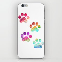 Paws print iPhone Skin