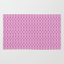 Mod Geometric Floral in Pink Rug