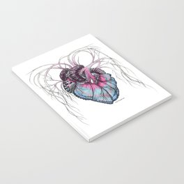 Butterfly Heart Blue Notebook