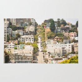 Climbing Hills in San Francisco Rug
