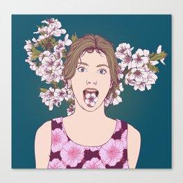 Cherry Girl Canvas Print