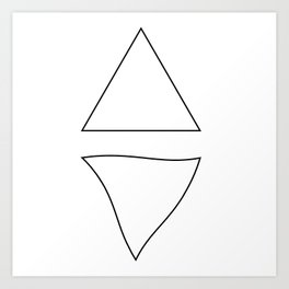 Triangle Twist  Art Print