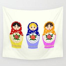 Russian matryoshka nesting dolls Wall Tapestry